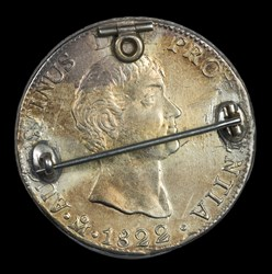 1822 Enameled 8 Reales
