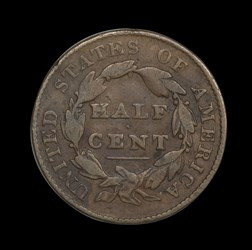 Decorated Half Cent
