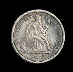1883 Seated Dime