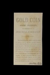 Gold Coin Base Burner
