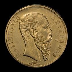 1866 Mexican 20 Peso Gold
