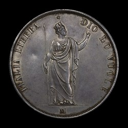 1848 5-Lire Screw Box Coin