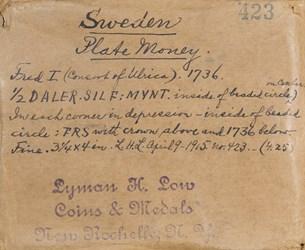 Swedish Plate Money