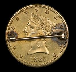 1885 $10 Pinback