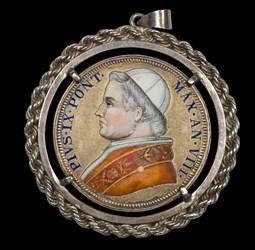 Enameled Pius IX