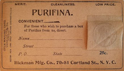Purifina postal (front)