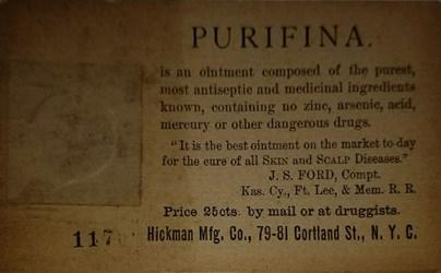 Purifina postal (back)
