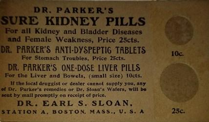 Dr. Sloan postal (front)