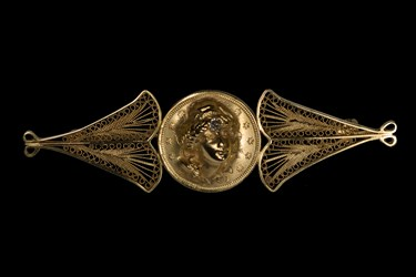 Repousse Brooch