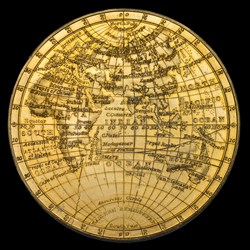 Gilt World Map