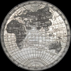 White Metal Map