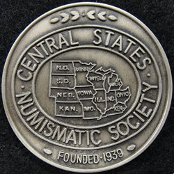 Central States Numismatic Society Medals