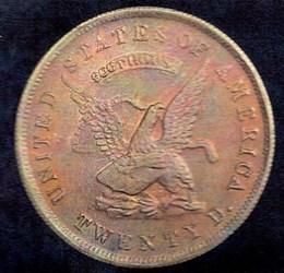 1853 USAOG $20