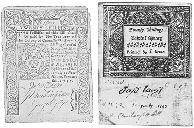 Early Paper Money of America / Connecticut / 1755 January 8