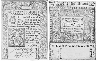 Early Paper Money of America / Connecticut / 1764 March 8