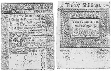 Early Paper Money of America / Connecticut / 1760 March 13