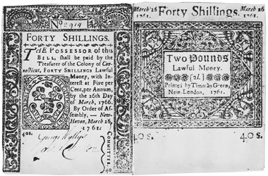 Early Paper Money of America / Connecticut / 1761 March 26