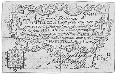 Early Paper Money of America / Connecticut / 1740 May 8