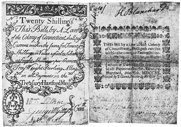 Early Paper Money of America / Connecticut / May 8, 1740