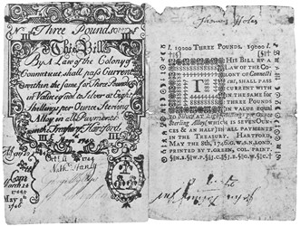 Early Paper Money of America / Connecticut / May 8, 1740, redated May 8, 1746