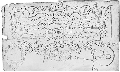 Early Paper Money of America / Connecticut / 1740 May 8 redated 1744 May 10