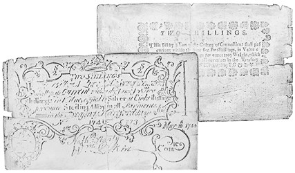 Early Paper Money of America / Connecticut / May 8, 1740, redated May 10, 1744