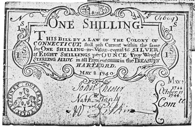 Early Paper Money of America / Connecticut / 1740 May 8 redated 1744 October 11