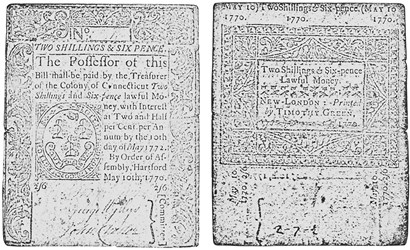 Early Paper Money of America / Connecticut / 1770 May 10