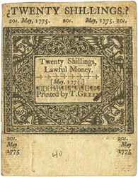 Early Paper Money of America / Connecticut / May 10, 1775