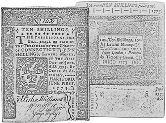 Early Paper Money of America / Connecticut / June 1, 1773