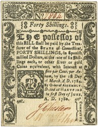 Early Paper Money of America / Connecticut / 1780 June 1