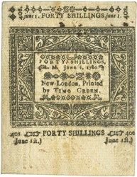 Early Paper Money of America / Connecticut / June 1, 1780
