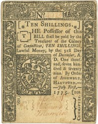 Early Paper Money of America / Connecticut / 1775 July 1