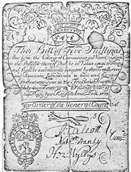 Early Paper Money of America / Connecticut / 1733 July 10