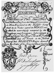 Early Paper Money of America / Connecticut / 1733 July 10 redated May 8 1746