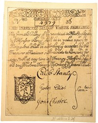 Early Paper Money of America / Connecticut / 1709 July 12