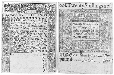 Early Paper Money of America / Connecticut / 1755 August 27