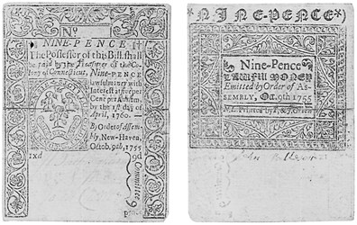 Early Paper Money of America / Connecticut / 1755 October 9