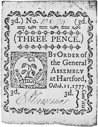 Early Paper Money of America / Connecticut / 1777 October 11