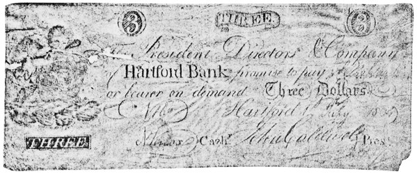 Early Paper Money of America / Connecticut / 1792 Hartford Bank