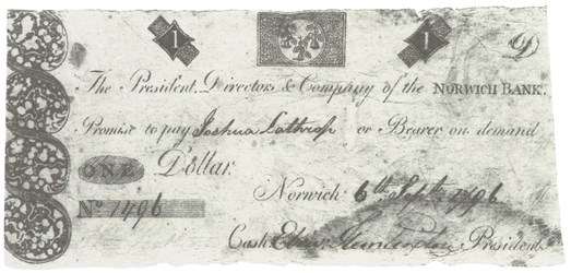 Early Paper Money of America / Connecticut /1795 Middletown Bank