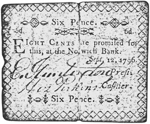 Early Paper Money of America / Connecticut /1796 September 12 and 1799 May 10 Norwich Bank