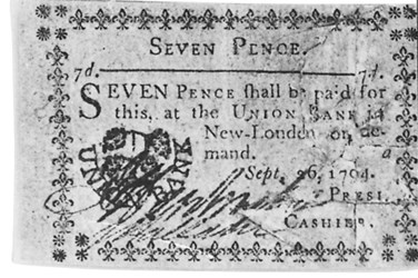 Early Paper Money of America / Connecticut / 1792 August 6 and 1792 September 26 Union Bank in New London