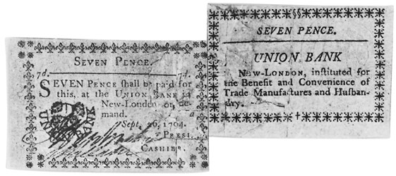 Early Paper Money of America / Connecticut / 1792 August 6 Union Bank in New London