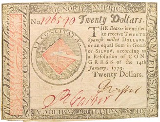 Early Paper Money of America / Continental Currency / 1779 January 14
