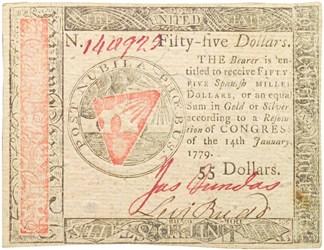 January 14, 1779 $55