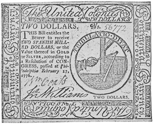 Early Paper Money of America / Continental Currency / 1776 February 17