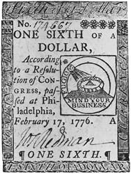 February 17, 1776 $1/6