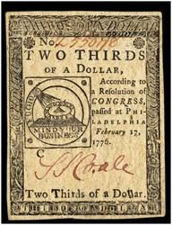 February 17, 1776 $2/3
