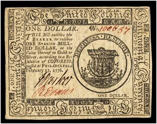 February 17, 1776 $1